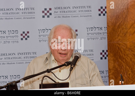 Famous Middle East Scholar Bernard Lewis at the Adelson Institute's Dec. 2008 Counterinsurgency conference. - Stock Photo