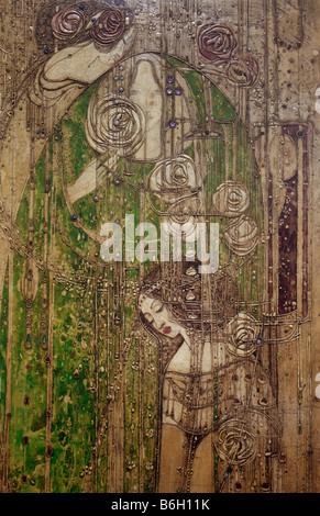 Willow  Tea Panel Detail - Stock Photo