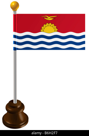 Kiribati flag as a marker - Stock Photo