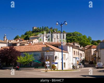 Town centre Montaigu de Quercy Tarn et Garonne Southwest France Europe - Stock Photo