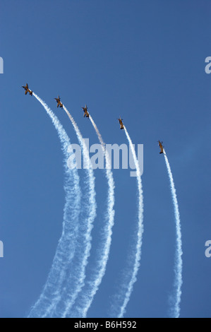 The Red Checkers Aerobatic Display Team with CT 48 Airtrainers - Stock Photo