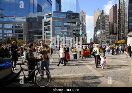 Columbus Circle Manhattan New York USA - Stock Photo