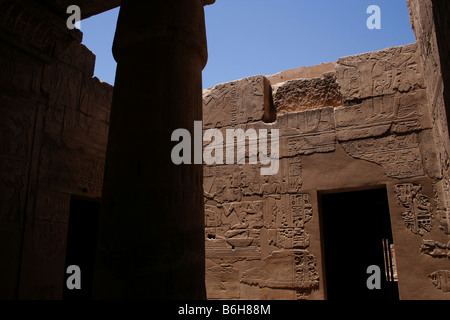 Temple of king Seti I the father of Rameses II 19th dynasty, ruled 1318-1304 BC, west bank - Stock Photo