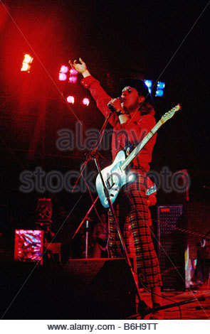 Noddy Holder of pop group Slade at an open air festival in 1972 - Stock Photo