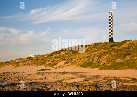 Evening on Lighthouse Beach Bunbury Western Australia WA - Stock Photo