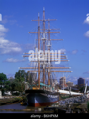 `The Polly Woodside', a restored British built three masted iron-hulled barque, centre piece of the Melbourne Maritime - Stock Photo