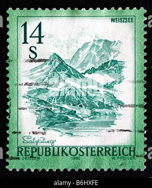 Mount Weiszsee, postage stamp, Austria, 1982