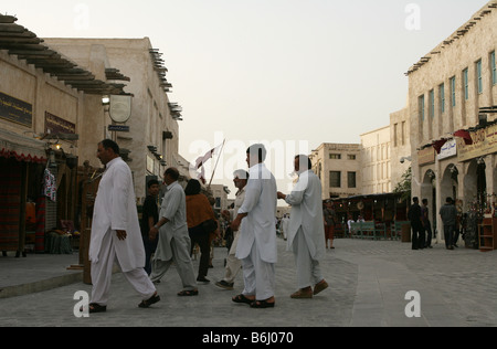Scene of the Souq Waqif market in Doha, Qatar. - Stock Photo