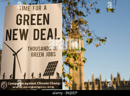 Campaign Against Climate Change march on Parliament Square in London - Stock Photo