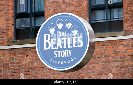 'The Beatles Story' attraction in Albert Dock, Liverpool, Merseyside UK - Stock Photo