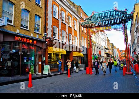 Gerrard Street in Chinatown London England UK - Stock Photo