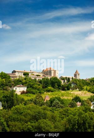 The hilltop town of Gramont in Tarn et Garonne, France, Europe - Stock Photo