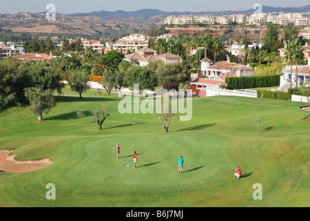 Mijas Costa Malaga Province Costa del Sol Spain Los Olivos golf course at Mijas Golf Interntional - Stock Photo