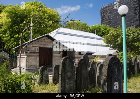 The graveyard at the Friday Mosque on Male in The maldives - Stock Photo