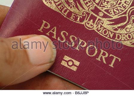 British passport biometrics biometric type - Stock Photo