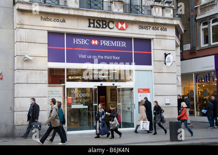 HSBC Bank Oxford Street, London, England, UK - Stock Photo