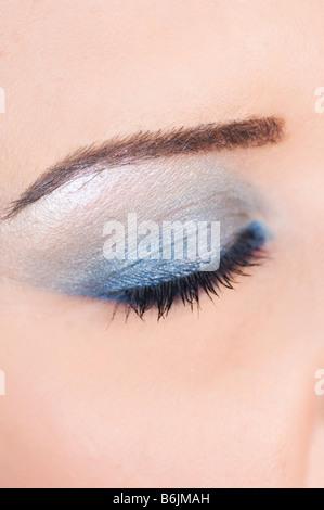 Woman wearing eyeshadow makeup - Stock Photo