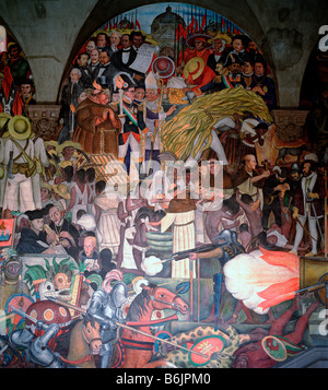 Detail of mural painted by diego rivera national palace or for Diego rivera la conquista mural