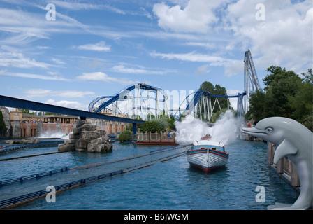 Poseidon roller coaster at Europa Park Rust Germany - Stock Photo