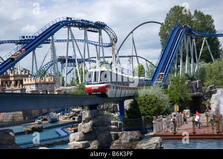 Poseidon roller coaster at Europa Park, Rust, Germany - Stock Photo