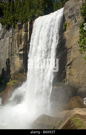 CALIFORNIA - Vernal Fall from the Mist Trail in Yosemite National Park. - Stock Photo