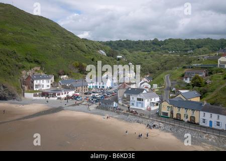 Llangrannog Beach Cardiganshire Cardigan bay Wales UK - Stock Photo