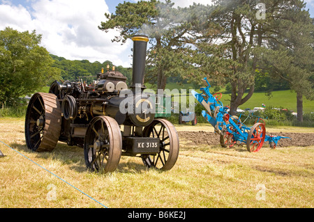 Wiltshire Steam vintage Rally England 2008 Steam Traction Engine - Stock Photo