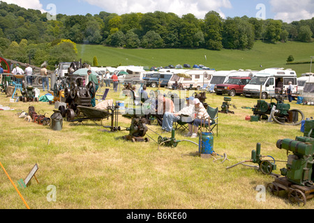 Wiltshire Steam vintage Rally England 2008 Stationary steam pumps and engines - Stock Photo