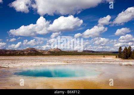 Opal Pool, Midway Geyser Basin, Yellowstone National Park; Wyoming; USA - Stock Photo