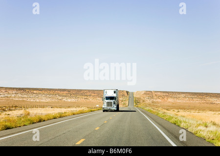 On the road in New Mexico, USA - Stock Photo