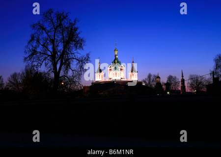 The Cathedral of the Exaltation of the Holy Cross at Brusensky Monastery in the Kremlin of Kolomna, Russia - Stock Photo