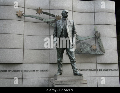 Dublin, Ireland - Statue of James Connolly outside the offices of SIPTU Trade Union in Liberty Hall, Dublin, Republic - Stock Photo