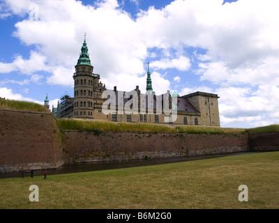 Kronborg Slot, the Hamlet Castle, in Helsingør, Denmark. - Stock Photo