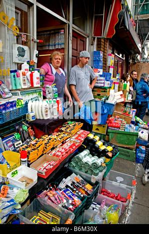 Portobello Road Market Notting Hill London - Stock Photo