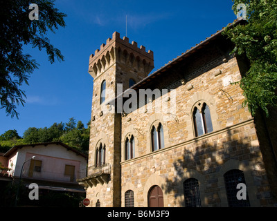 The town library of Greve in Chianti, Tuscany, Italy. - Stock Photo