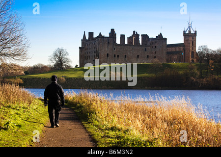 Linlithgow Palace, Linlithgow, West Lothian, Scotland. - Stock Photo