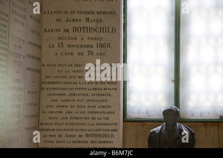 The grave of James Mayer Baron De Rothschild  France - Stock Photo