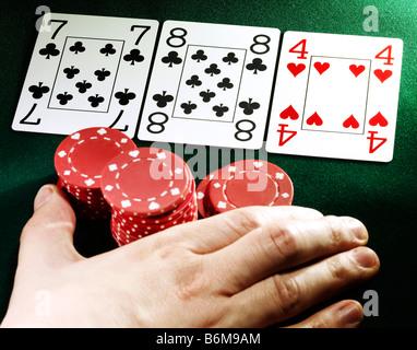 poker hand - Stock Photo
