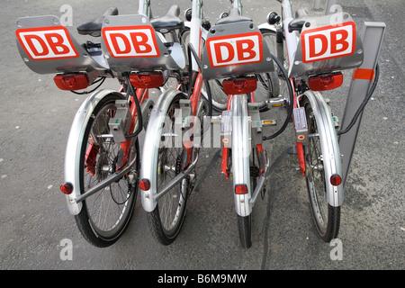 Rent- a bike DB-German Railways Berlin - Stock Photo