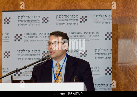 LTC (ret.) John Nagl, Fellow at the Center for New American Policy, speaks at the Adelson Institute's 2008 conference - Stock Photo
