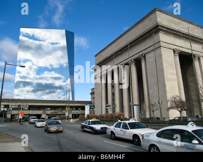 Pennsylvania Station 30th Street Amtrak station with Cira Centre in background Philadelphia Pennsylvania USA - Stock Photo