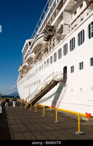 The P & O cruise ship Artemis, berthed at Akureyri, northern Iceland. - Stock Photo