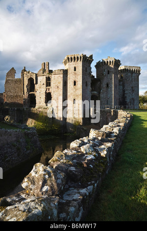 Raglan Castle (the Gatehouse), Monmouthshire, Wales - Stock Photo