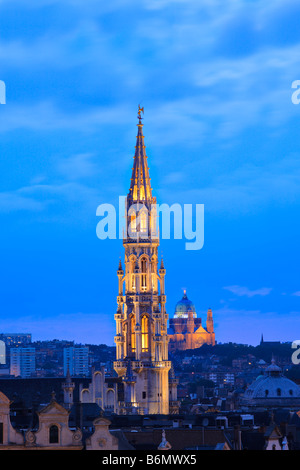 Brussels cityscape - Stock Photo