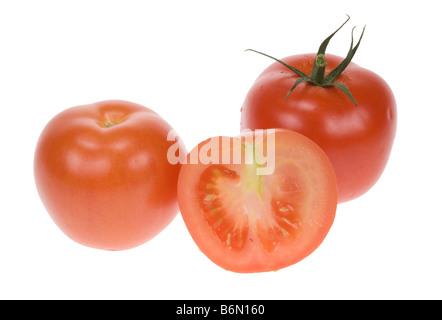 fresh tomato isolated on a white background - Stock Photo