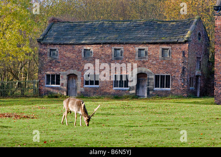 West Stables, Dunham Massey Hall and Park, Altrincham, Cheshire, built in the late 17th or early 18th century - Stock Photo