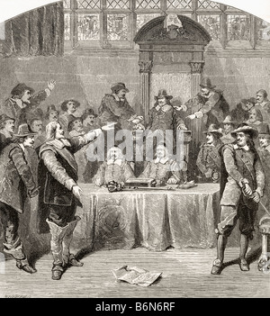 Sir John Eliot 1592 1632 defending the rights of the Commons - Stock Photo