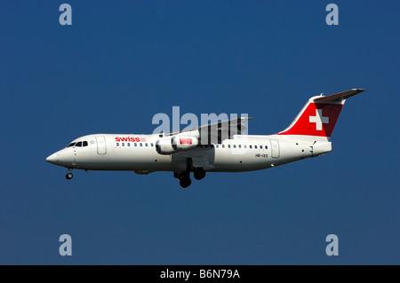 Aircraft AVRO 146 RJ100, main operator Swiss European Air Lines AG - Stock Photo