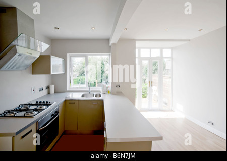 Kitchen Dining Room In A Newly Refurbished House Showing