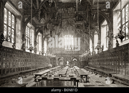 The Great Hall of the Middle Temple One of four Inns of Court London England - Stock Photo